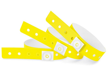 Plastic Wristbands - Yellow S-24335Y