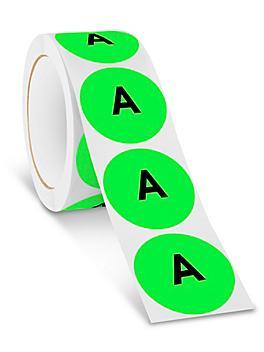 "2"" Circle Labels - ""A"" S-24362"