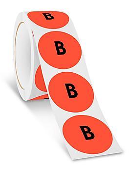 "2"" Circle Labels - ""B"" S-24363"