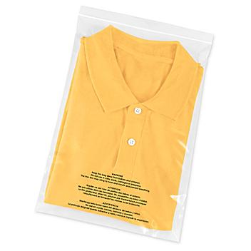 """Reclosable Suffocation Warning Bags - 2 Mil, 10 x 15"""" S-24394"""