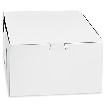 """Cake Boxes - 8 x 8 x 5"""", White S-24405"""