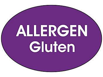 """""""Allergen Gluten"""" Label - 2 x 3"""" S-24421"""