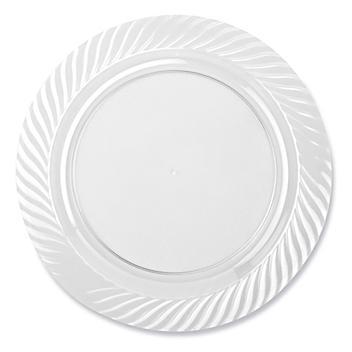 """Premium Plastic Plates - 10 1/4"""", Clear S-24457C"""