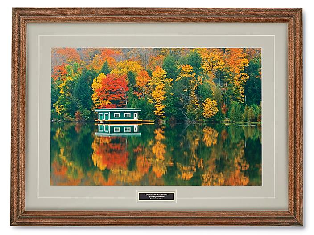 Boathouse Reflection Print S-24471