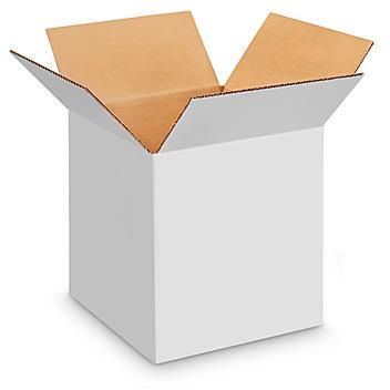 "14 x 14 x 14"" White Corrugated Boxes S-4432"