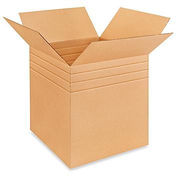"""22 x 22 x 22"""" Multi-Depth Corrugated Boxes S-4447"""