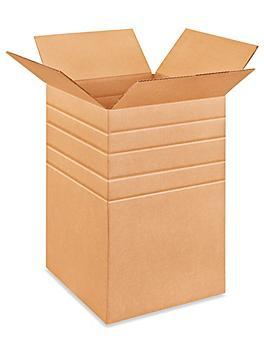 """12 x 12 x 18"""" Multi-Depth Corrugated Boxes S-4490"""