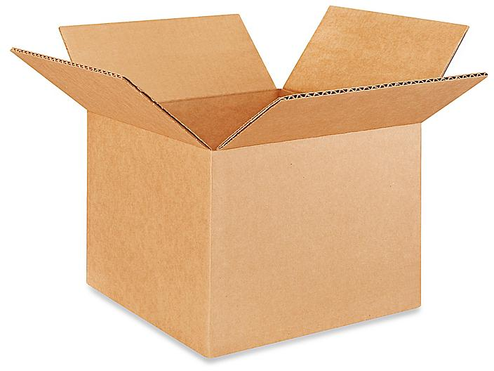 """9 x 9 x 7"""" Corrugated Boxes S-4596"""