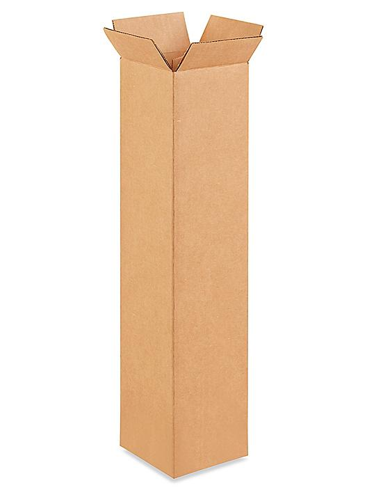 """4 x 4 x 20"""" Tall Corrugated Boxes S-4833"""