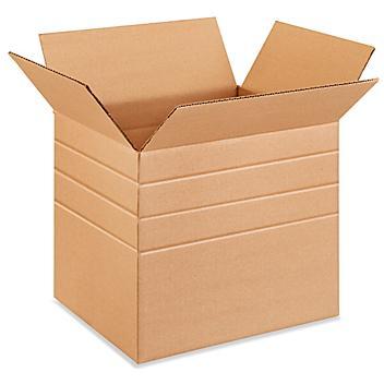 """13 1/4 x 10 1/4 x 12"""" Multi-Depth Corrugated Boxes S-4895"""