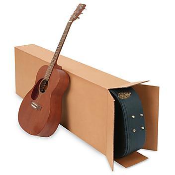"20 x 8 x 50"" 275 lb FOL Side Loading Corrugated Guitar Boxes S-4922"