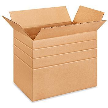 """14 1/2 x 8 3/4 x 12"""" Multi-Depth Corrugated Boxes S-521"""