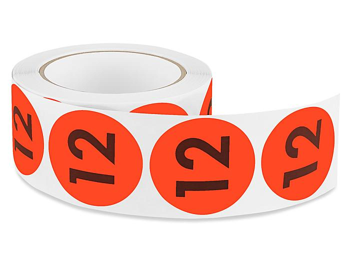 "2"" Circle Labels - ""12"" S-5644"