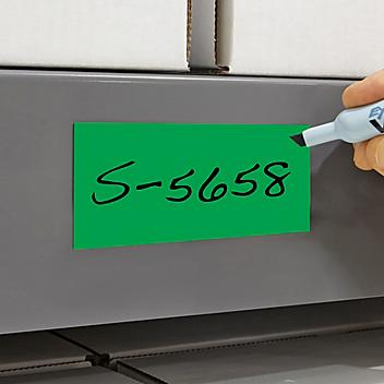 """Magnetic Labels on a Roll - Green, 2"""" x 200' S-5658G"""