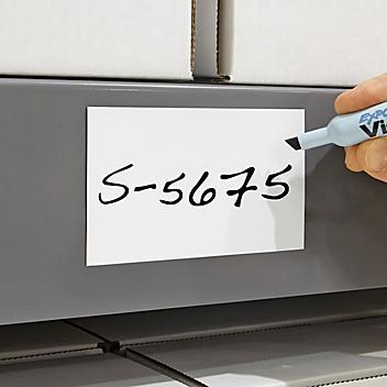 """Magnetic Labels on a Roll - White, 3"""" x 200' S-5675"""