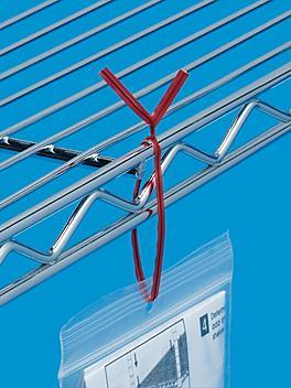 """Plastic Pre-Cut Twist Ties - 8"""", Red S-567R"""