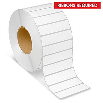 """Industrial Thermal Transfer Labels - 4 x 1"""", Ribbons Required S-5952"""