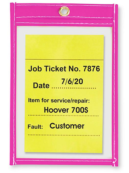 "Job Ticket Holders - 4 x 6"", Purple S-6013PUR"