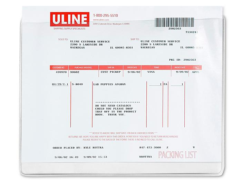 "Press-On Vinyl Envelopes - 11 x 8 1/2"" S-6017"