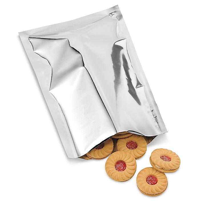 """Metalized Food Bags - Open End, 6 x 10"""" S-6176"""