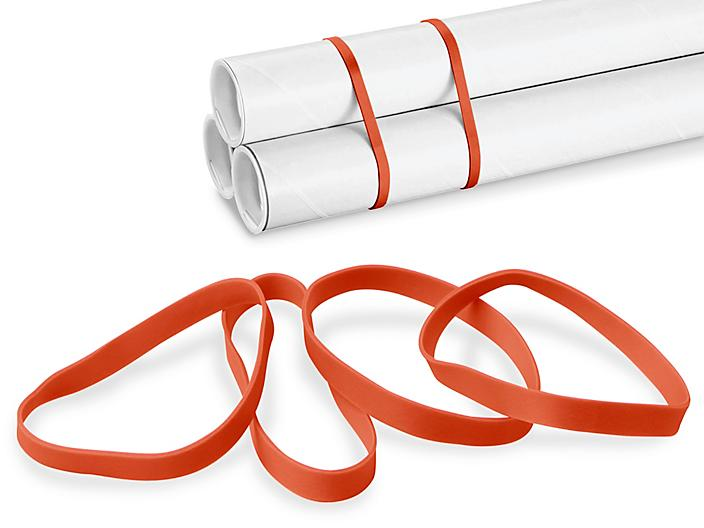 """#64 Rubber Bands - 3 1/2 x 1/4"""", Red S-6189R"""