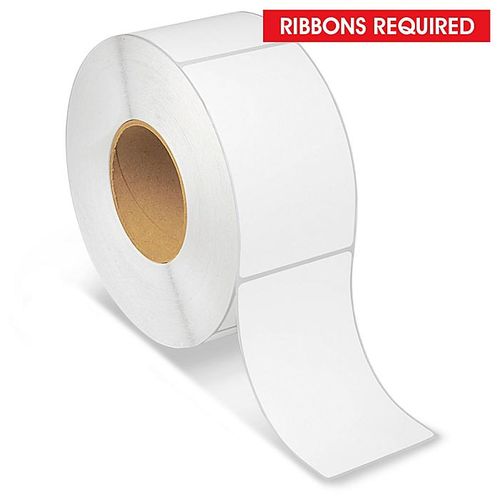 """Industrial Thermal Transfer Labels - 3 x 5"""", Ribbons Required S-6252"""