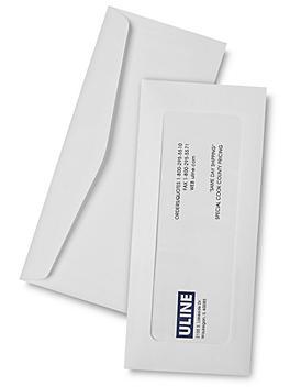 """Full View Window Envelopes - 4 1/8 x 9 1/2"""", White S-6291W"""