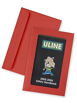 """Full View Window Envelopes - 6 x 9"""", Red S-6292R"""