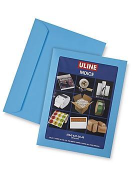 "Full View Window Envelopes - 8 3/4 x 11 1/2"", Blue S-6293BLU"