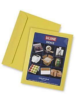 "Full View Window Envelopes - 8 3/4 x 11 1/2"", Yellow S-6293Y"