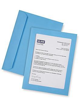 "Full View Window Envelopes - 9 x 12"", Blue S-6294BLU"