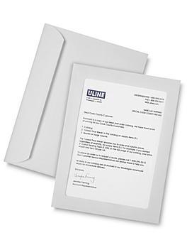 """Full View Window Envelopes - 9 x 12"""", White S-6294W"""