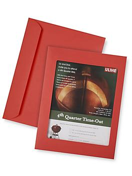"""Full View Window Envelopes - 10 x 13"""", Red S-6295R"""