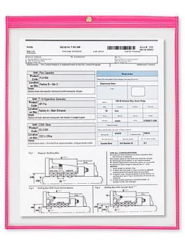 """Job Ticket Holders - 15 x 18"""", Pink S-6414P"""