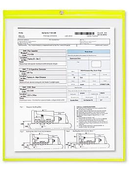 "Job Ticket Holders - 15 x 18"", Yellow S-6414Y"