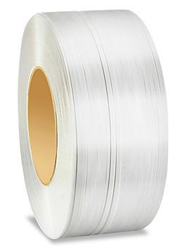 "Machine Strapping - 3/8"" x .024"" x 12,900', White S-6431"