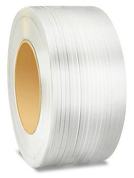 "Machine Strapping - 1/2"" x .024"" x 7,200', White S-6433"