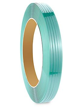 """Uline Polyester Strapping - 5/8"""" x .025"""" x 2,200', Green S-6482"""