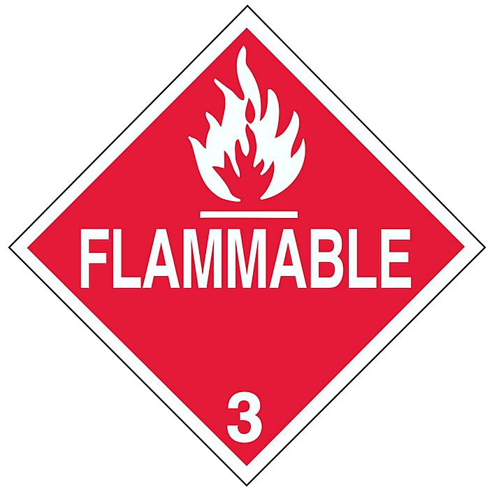 """D.O.T. Placard - """"Flammable"""", Tagboard S-651T"""
