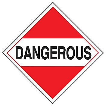 "D.O.T. Placard - ""Dangerous"", Adhesive Vinyl S-652V"