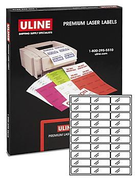 """Uline Laser Labels - Clear, 2 5/8 x 1"""" S-6773"""