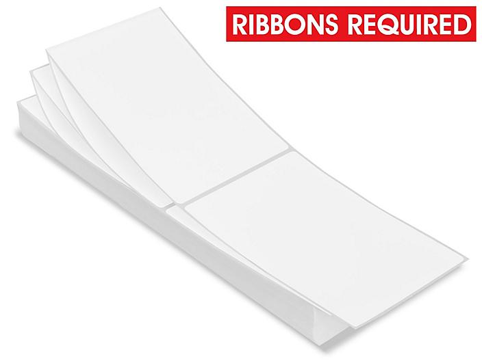 """Fanfolded Industrial Thermal Transfer Labels - 4 x 6"""", Ribbons Required S-6795"""