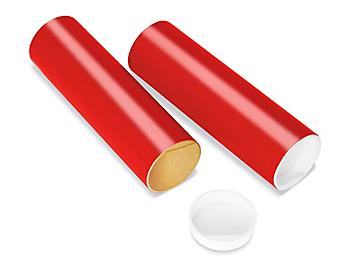 """Mailing Tubes with End Caps - 2 x 6"""", .060"""" thick, Red S-8101RED"""