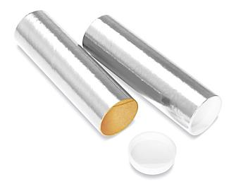 """Mailing Tubes with End Caps - 2 x 6"""", .060"""" thick, Silver S-8101SIL"""
