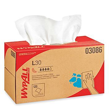 "WypAll® Economizer L30 Dispenser Box Wipes - 10 x 10"" S-8146"