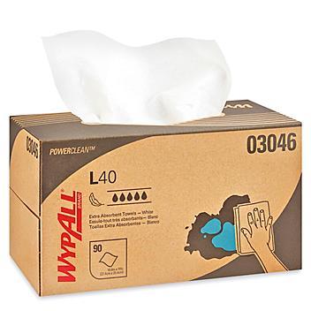"""WypAll® L40 Dispenser Box Wipers - 10 x 10"""" S-8148"""