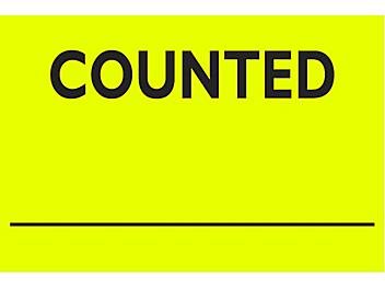 """Inventory Control Labels - """"Counted _____"""", 2 x 3"""" S-8171"""