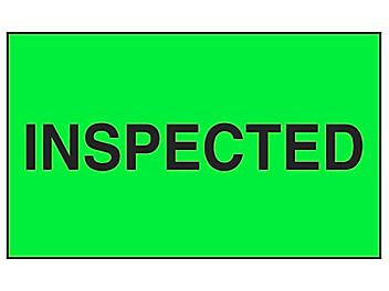 """Production Labels - """"Inspected"""", 3 x 5"""" S-8183"""