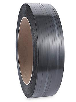 """Uline Fleje de Polipropileno - 1/2"""" x .024"""" x 7,200', Negro S-821"""