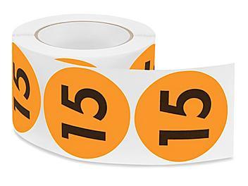 "3"" Circle Labels - ""15"" S-8230"